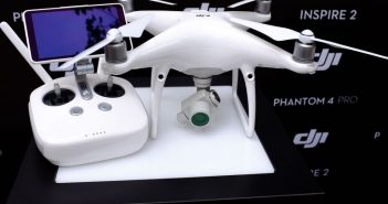 The DJI Phantom 4 Pro has cameras on the front and back to prevent collisions